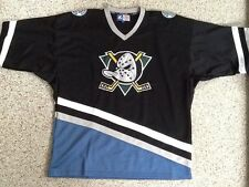 RARE BLACK ANAHEIM MIGHTY DUCKS HOCKEY JERSEY STARTER LARGE