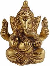 Ganesha Brass Statue Ganesh Hindu God Idol Figurine Murti Ganpati Sculpture Art
