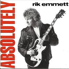 CD RIK EMMETT - ABSOLUTELY ( 11 TRACKS KANADA IMPORT TRIUMPH AOR RAR )