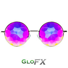 GloFX Imagine Kaleidoscope Glasses - Silver Trippy Psychedelic Intense 3D Effect