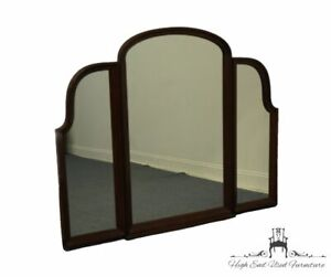 """ETHAN ALLEN Georgian Court Solid Cherry Traditional Style 56"""" Tri-Fold Mirror..."""