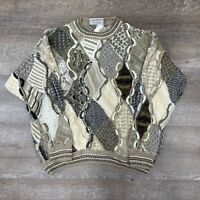 Vintage Carlo Alberto Australian Coogi Style Hip Hop Biggie Sweater Men's Sz XXL