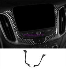 Real Carbon Fiber GPS Dashboard Panel Trim For Chevrolet Equinox 2017 2018 2019