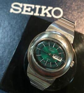 Stunning dial SEIKO SS VINTAGE WATCH HI-BEAT AUTOMATIC ladies 1970s Seiko band