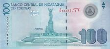 Nicaragua Banknote 100 Cordoba 2007 (2009) Replacement Series A/R (22801) UNC