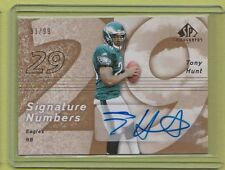 2007 SP Authentic Chirography Tony Hunt Eagles Penn State #91/99 auto