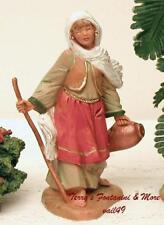 "Fontanini Depose Italy 5""Zina Bskt Weaver Wife Nativity Village Figure 54093 Nib"