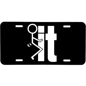 ALUMINUM LICENSE PLATE  F IT funny many colors/reflective colors