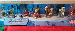 Disney Store Marvel Modern X Men 7 Piece Figurine Playset 2011 Wolverine NIB