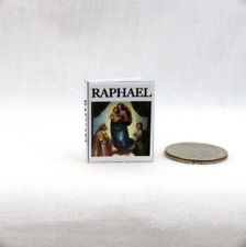 RAPHAEL HIS LIFE AND WORKS Miniature Book Dollhouse 1:12 Scale Book Artist
