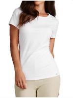 NEW Ladies M&S Autograph White Modal Mix Short Sleeve Vest T-Shirt Sizes 10 - 16
