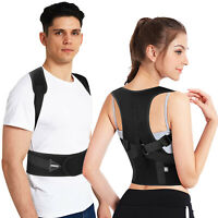 Men Women Adjustable Magnetic Posture Corrector Back Shoulder Support Brace Belt