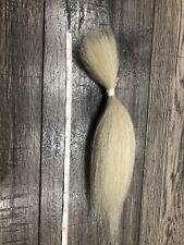 Tail Yak Hair White 9.5 Inches