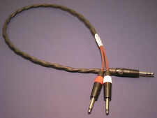 Y Cable ~ Geistnote Evidence Audio Monorail TRS to Stereo TS Neutrik 3 ft Cable