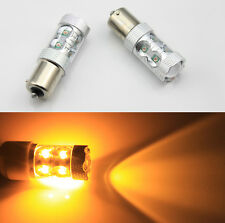 Sales 2x 50W 1156 BA15S P21W High Power 10 CREE LED Turn Signal Light Bulb Amb