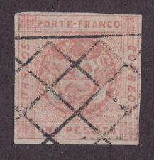 Peru, Sc 10 used. 1860 1p rose, Lima double-grill cancel, Lamy type 78, rare