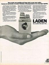 PUBLICITE  1974   LADEN  lave linge  machine à laver FONTENOY