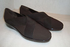 Amalfi By Rangoni Luma Womens NWOB Fabric Stretch Brown Shoes Size 7.5 MED NEW