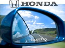 Honda Sticker Decal Etched Glass Effect Mirror Styling