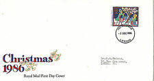 2 DECEMBER 1986 12p DISCOUNT CHRISTMAS ROYAL MAIL FIRST DAY COVER LEEDS FDI