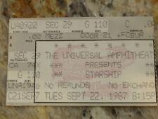 Starship 1987 Concert Stub at Universal Amphitheater, Ca