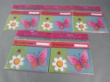 New 5 Packs If 8 Party Loot Bags 40pc Birthday Butterfly garden Girl