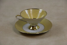 Stunning Elfenbein Bavaria Germany Porcelain Footed Cup & Saucer