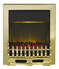 Blenheim Electric Inset Fire, 2000 W, Brass 10297