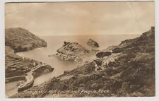 Cornwall postcard - Boscastle Harbour and Profile Rock - P/U