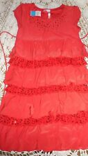 nwt Justice red sequin tiered ruffle dress girl 14 free ship USA