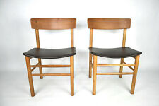 Original Danish Dining Chairs by Farstrup Møbler, Set of two, Oak, Brown Leather