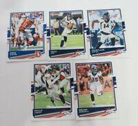 Lot Of 5 2020 Donruss Cards Denver Broncos Steve Atwater Phillip Lindsay Suttona