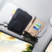 Car Sun Visor Storage Pocket Organizer Card Storage Bag  Sunglasses Clip Holder