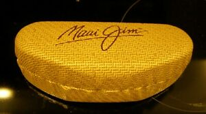 Maui Jim Clamshell Sunglasses Faux Bamboo Basket design with Extras