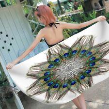 BOHO Mandala Peacock All-seeing Eye Swim Bath Beach Towel Blanket Christmas Gift