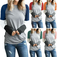 Womens Long Sleeve Pullover Ladies Casual T Shirt Tops Holiday Sweatshirt Blouse