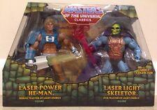 MOTUC MASTERS OF THE UNIVERSE CLASSICS LASER LIGHT SKELETOR LASER POWER HE-MAN