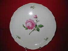 Meissen rosa roja grande pastel placa plato Schüssel marco dorado Service