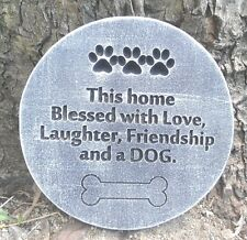This home blessed dog plastic mold concrete plaster garden mould