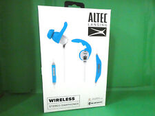 Altec Lansing MZW100-Blue Waterproof In-Ear Earbuds Headphone FACTORY SEALED!