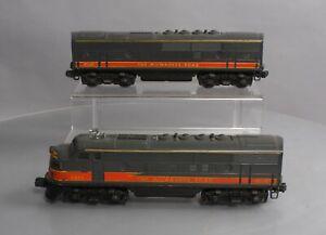 Lionel 2378 Vintage O Milwaukee Road F3 AB Diesel Locomotive Set (Type III)