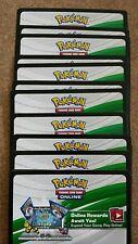30 Pokemon JIRACHI/MEW/DARKRAI/CELEBI + Mythical Collection CODE CARDS (Unused)