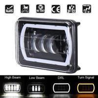 1pc 6000K 6x4in 45W LED Projector Headlight DRL for Jeep Wrangler YJ Cherokee XJ