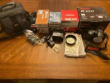 Pentax K10D Digital Camera with 3 lenses and accessories