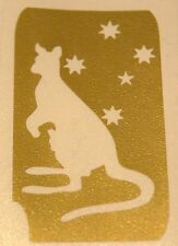 GT838 Body Art Temporary Glitter Tattoo Stencil Kangaroo Southern Cross