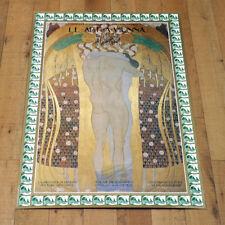 LE ARTI A VIENNA poster manifesto affiche Palazzo Grassi Venezia Gustav Klimt