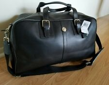 New COACH Voyager Cabin Calf Leather Duffle Travel  Black Bag F77124 $500