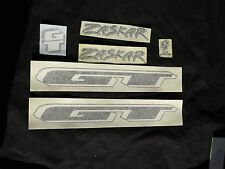 GT DECALS ZASKAR BLACK MOUNTAIN BIKE BICYCLE STICKERS NOS VINTAGE
