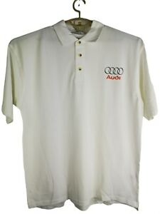 White polo from Kustom Kits with Audi logo size XL new in bag