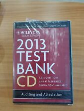 Wiley CPA exam review 2013 test bank CD-ROM Win Mac auditing attestation new